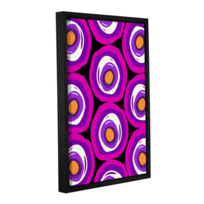 Brushstone Large Scale Spots Gallery Wrapped Floater-Framed Canvas Wall Art