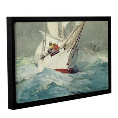 Brushstone Diamond Shoal; 1905 Gallery Wrapped Floater-Framed Canvas Wall Art