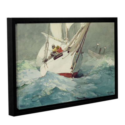 Brushstone Diamond Shoal; 1905 Gallery Wrapped Floater-Framed Canvas Wall Art
