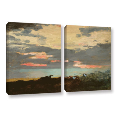 Brushstone Sunset Saco Bay 2-pc. Gallery Wrapped Canvas Wall Art