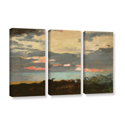 Brushstone Sunset Saco Bay 3-pc. Gallery Wrapped Canvas Wall Art