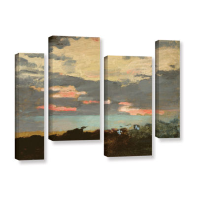 Brushstone Sunset Saco Bay 4-pc. Gallery Wrapped Staggered Canvas Wall Art