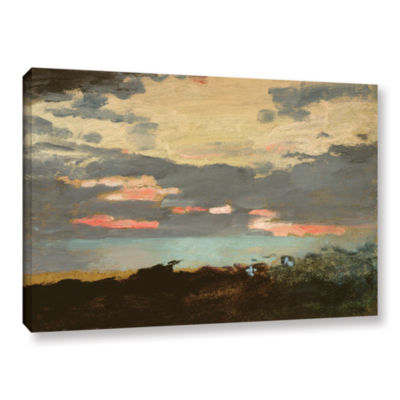 Brushstone Sunset; Saco Bay Gallery Wrapped CanvasWall Art