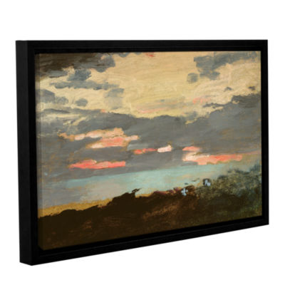 Brushstone Sunset; Saco Bay Gallery Wrapped Floater-Framed Canvas Wall Art