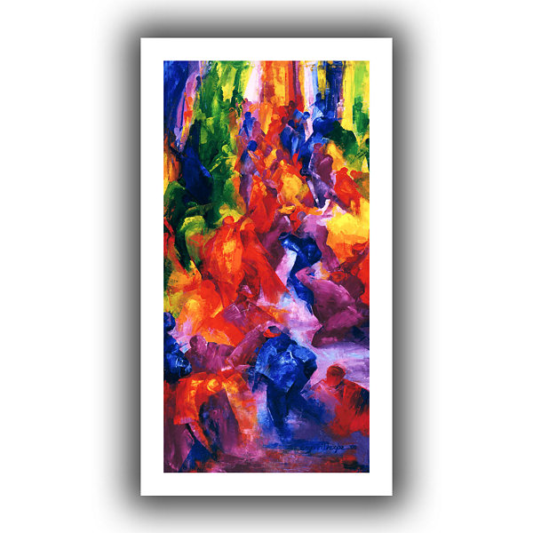 Brushstone Dance 2 Canvas Wall Art