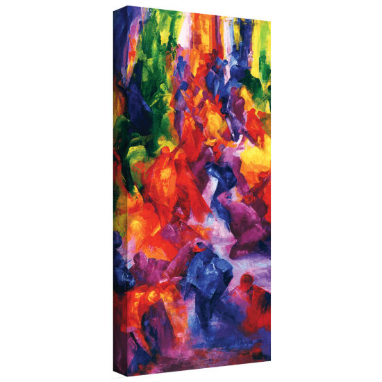Brushstone Dance 2 Gallery Wrapped Canvas Wall Art