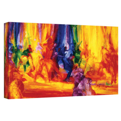 Brushstone Dance I Gallery Wrapped Canvas Wall Art