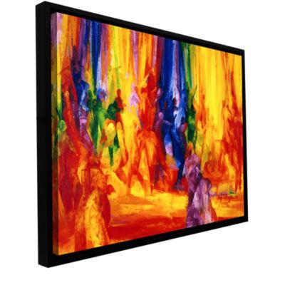 Brushstone Dance I Gallery Wrapped Floater-FramedCanvas Wall Art