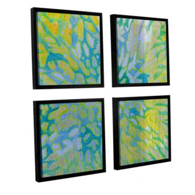 Brushstone Acrapora; 2000 4-pc. Square Floater Framed Canvas Wall Art
