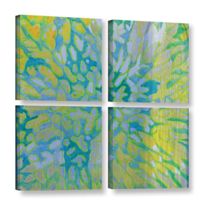 Brushstone Acrapora; 2000 4-pc. Square Gallery Wrapped Canvas Wall Art