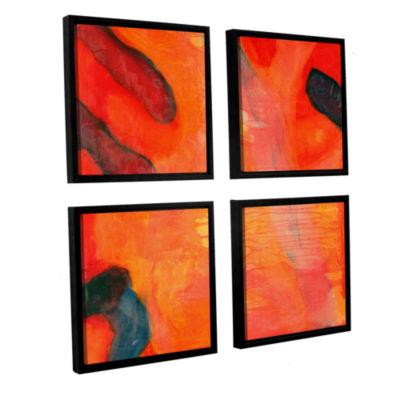 Brushstone Clown Fish II 1997 4-pc. Square FloaterFramed Canvas Wall Art