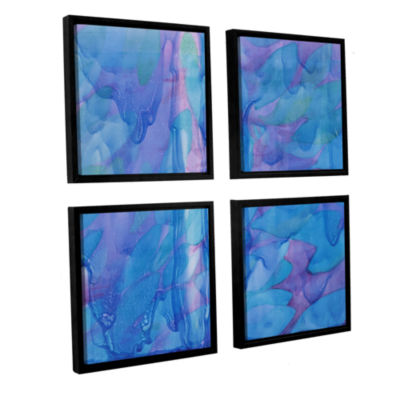 Brushstone Humpback's Blue 2000 4-pc. Square Floater Framed Canvas Wall Art