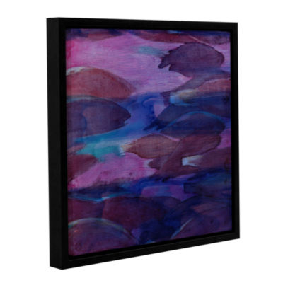 Brushstone Purple Parrots VI 2000 Gallery WrappedFloater-Framed Canvas Wall Art