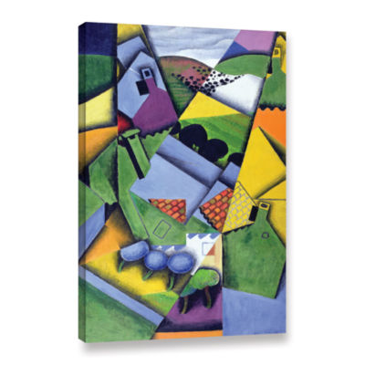 Brushstone Landscape and Houses at Ceret;1913 Gallery Wrapped Canvas Wall Art