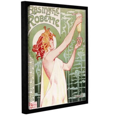 Brushstone Absinthe Robette Poster Gallery WrappedFloater-Framed Canvas Wall Art