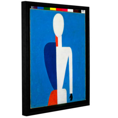 Brushstone Torso; Transformation to a New Shape;1928-32 Gallery Wrapped Floater-Framed Canvas Wall Art