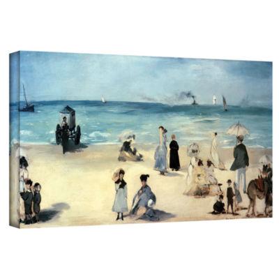 Brushstone Beach Scene Gallery Wrapped Canvas WallArt