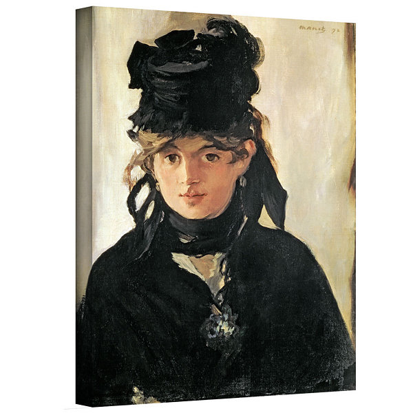 Brushstone Berthe Morisot with a Bouquet of Violets Gallery Wrapped Canvas Wall Art