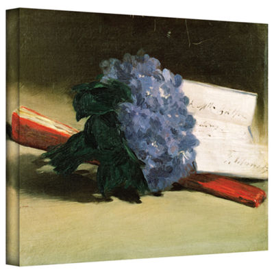Brushstone Bouquet of Violets Gallery Wrapped Canvas Wall Art