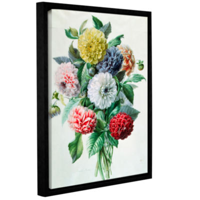 Brushstone Bouquet of Violets Gallery Wrapped Floater-Framed Canvas Wall Art