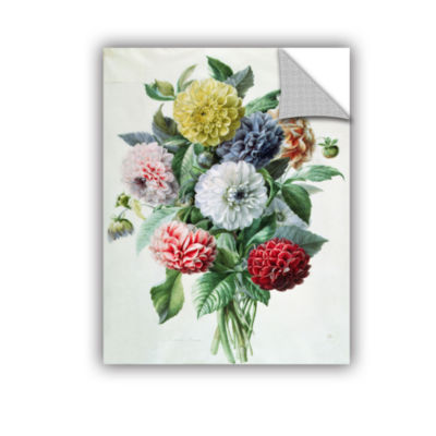 Brushstone Bouquet of Violets Removable Wall Decal