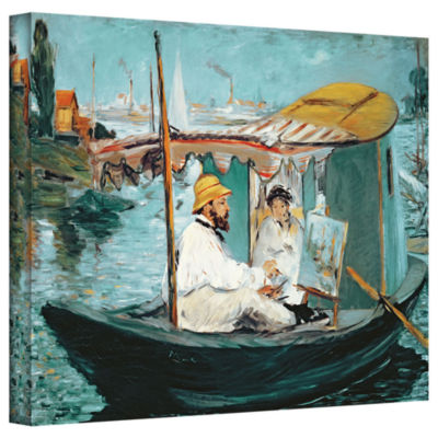 Brushstone Monet in his Floating Studio Gallery Wrapped Canvas Wall Art