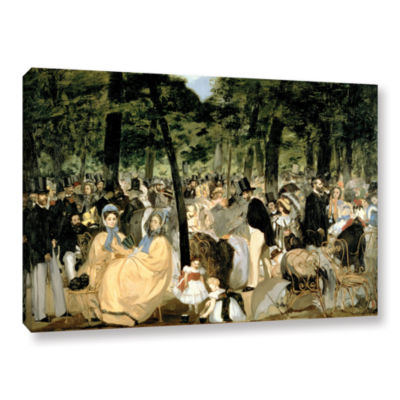 Brushstone Music in The Tuileries Gallery WrappedCanvas Wall Art