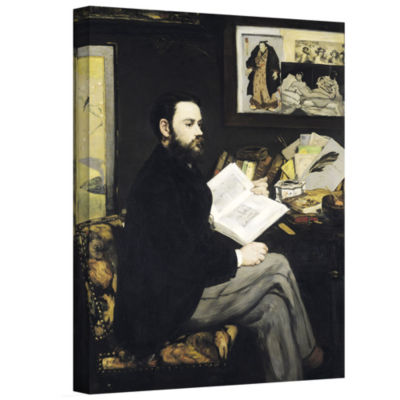 Brushstone Portrait of Emile Zola Gallery WrappedCanvas Wall Art