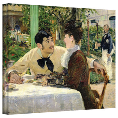 Brushstone The Garden of Pere Lathuille Gallery Wrapped Canvas Wall Art