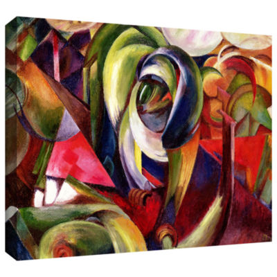 Brushstone Animals Under Trees Gallery Wrapped Canvas Wall Art
