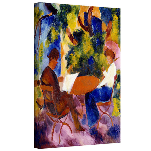 Brushstone At The Garden Table Gallery Wrapped Canvas Wall Art