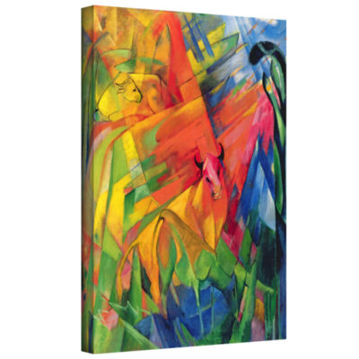 Brushstone Big Blue Horse Gallery Wrapped Canvas Wall Art