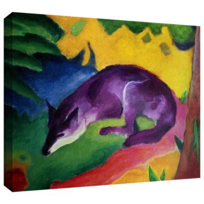 Brushstone Blue Fox Gallery Wrapped Canvas Wall Art