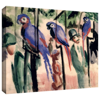 Brushstone Blue Parrots Gallery Wrapped Canvas Wall Art