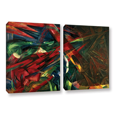Brushstone Fate of The Animals 2-pc. Gallery Wrapped Canvas Wall Art