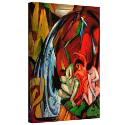 Brushstone Gazelles Gallery Wrapped Canvas Wall Art