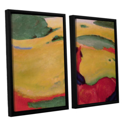 Brushstone Horse in a Landscape 2-pc. Floater Framed Canvas Wall Art