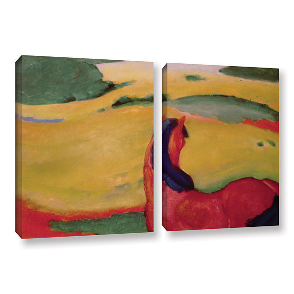 Brushstone Horse in a Landscape 2-pc. Gallery Wrapped Canvas Wall Art