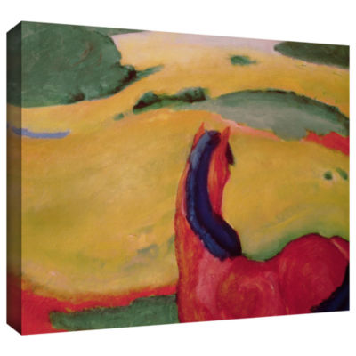 Brushstone Horse in a Landscape Gallery Wrapped Canvas Wall Art