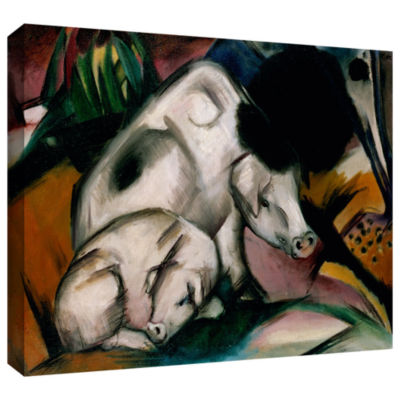 Brushstone Horse with Two Foals Gallery Wrapped Canvas Wall Art