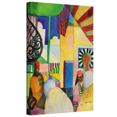 Brushstone In The Bazaar Gallery Wrapped Canvas Wall Art