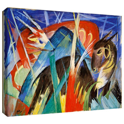 Brushstone Red Bull Gallery Wrapped Canvas Wall Art