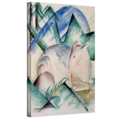 Brushstone Sleeping Deer Gallery Wrapped Canvas Wall Art