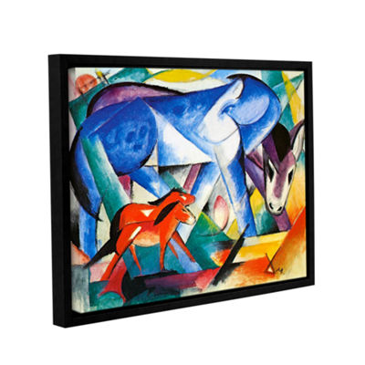Brushstone The First Animals (Horses) Gallery Wrapped Floater-Framed Canvas Wall Art
