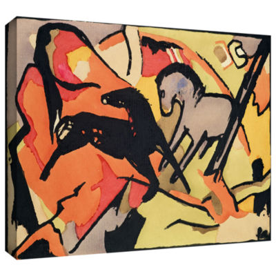 Brushstone The Red Bull Gallery Wrapped Canvas Wall Art