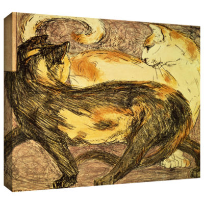 Brushstone Two Cats Gallery Wrapped Canvas Wall Art