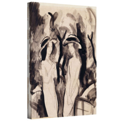 Brushstone Two Girls Gallery Wrapped Canvas Wall Art