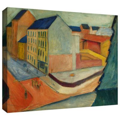 Brushstone Unsere Strasse Mit Reitbahn Bonn Gallery Wrapped Canvas Wall Art