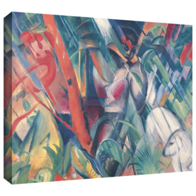 Brushstone Walking in The Park Gallery Wrapped Canvas Wall Art