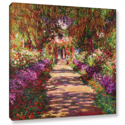 Brushstone A Pathway in Monet's Garden Gallery Wrapped Canvas Wall Art